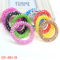 strong quality thick colorful star printing plastic telephone wire hair band
