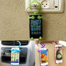 creative wall mount cell phone holder for car for charger flexible for car flexible