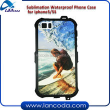 sublimation waterproof mobile phone case for iPhone5/5S,Anti-Dust,Scratch Proof