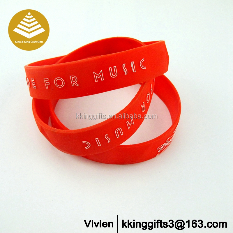 China rubber specs/eminem silicone bracelet/cheap silicone rubber wristbands Promotion