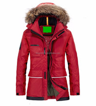 2017 Custom Wholesale Unisex Fur Hood DOWN Winter Horse Riding Clothes for men and women