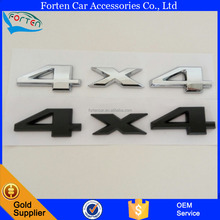Black Chrome 4X4 3D Letter Chrome Custom ABS Sticker Car Badge Emblem