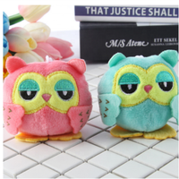 Dropshipping Plush Stuffed animal owl TOY Plush Keychains owl 9 cm key chain toys small Pendant dolls Wedding Party toys