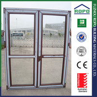 Factory price Alibaba UPVC 2 way swing glass door