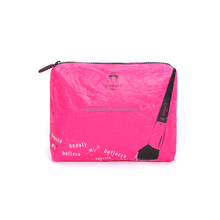 New arrival high quality waterproof tyvek toiletry bag for woman,hot selling durable eco-friendly tyvek cosmetic bag