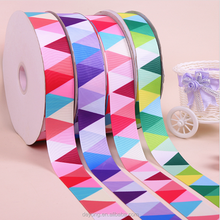 Fashion polyester solid color Custom Printed Grosgrain Ribbon for Chrismas decorations