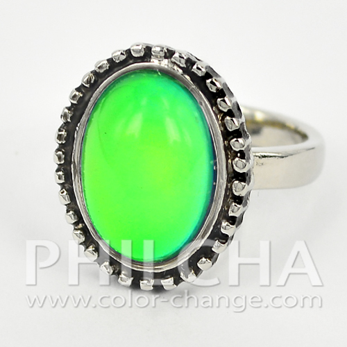 Fashion Multi Color Change Jewelry Oval Mood Stone Ring