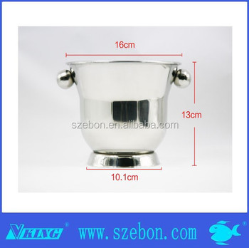 high quality& large capacity stainless steel ice bucket/ice cooler with lid and handles