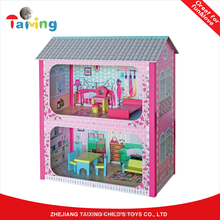 2017 kindergarten wooden doll house