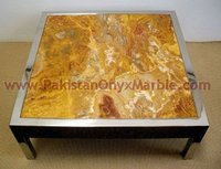 Natural color brown/golden onyx table