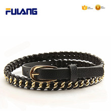 Fashion decorative braided chain belts for women lady FUD030