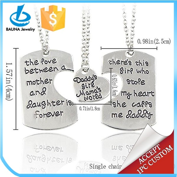 Custom The love between family puzzle pendant choker jewelry necklace set-special gift for family(3PCS)
