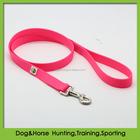 softer PVC coated nylon pet dog leash in neon pink supplies