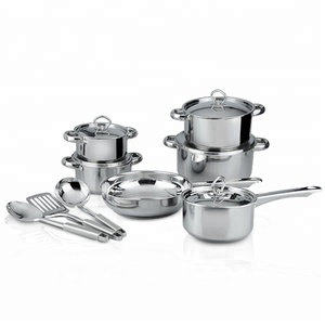 Bulk sale pot set cookware kitchen utensils stainless steel cookware