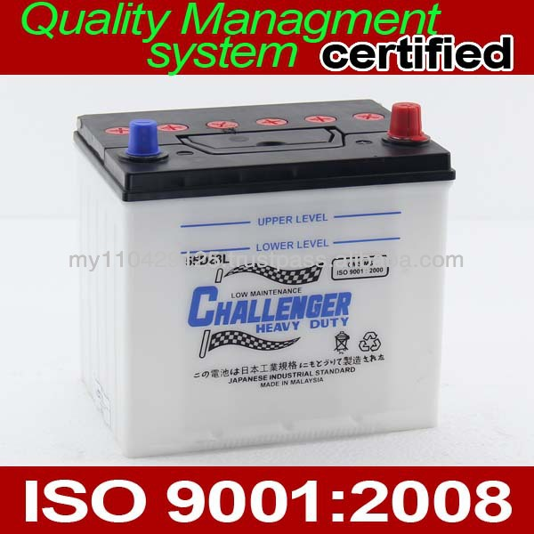 Car Battery 55D23L 12V Dry Charged Low Maintenance