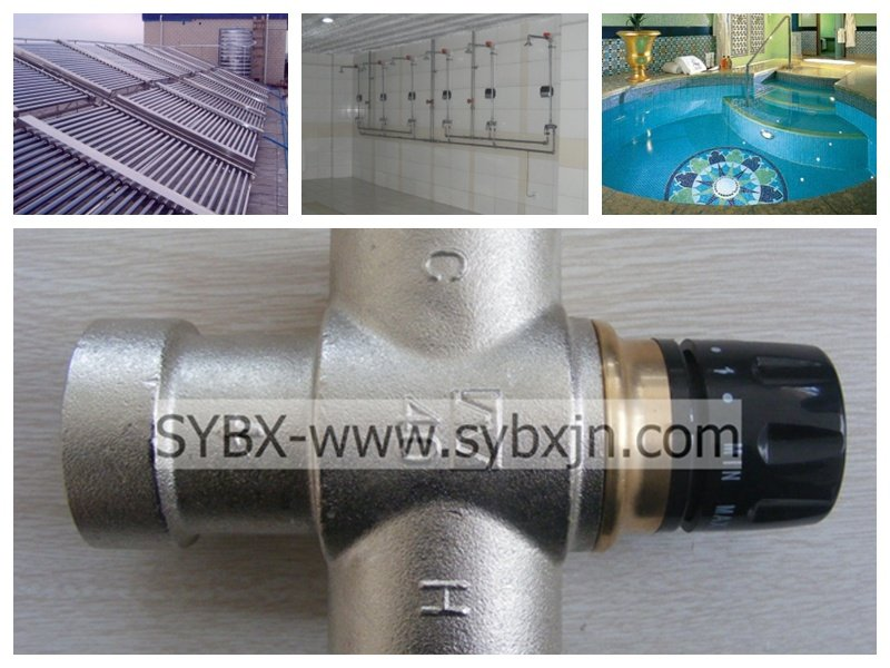 Solar energy heater Thermostatic mixing valve