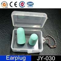Custom PU foam Ear Plugs for Travelling with Paper Box
