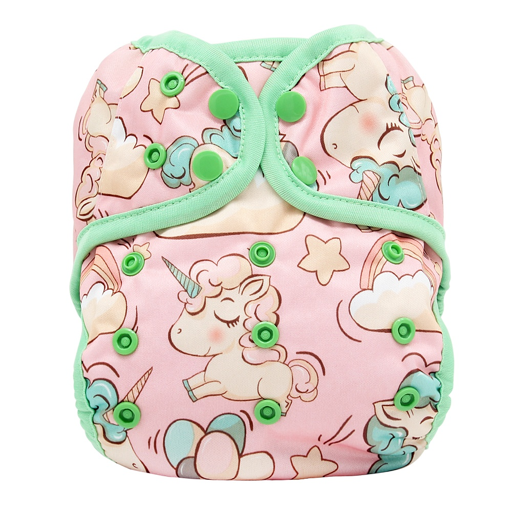 Goodbum double gusset cloth diaper cover for baby