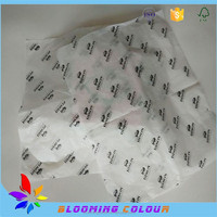 Custom printed tissue paper for wrapping garment ,shoe with one color