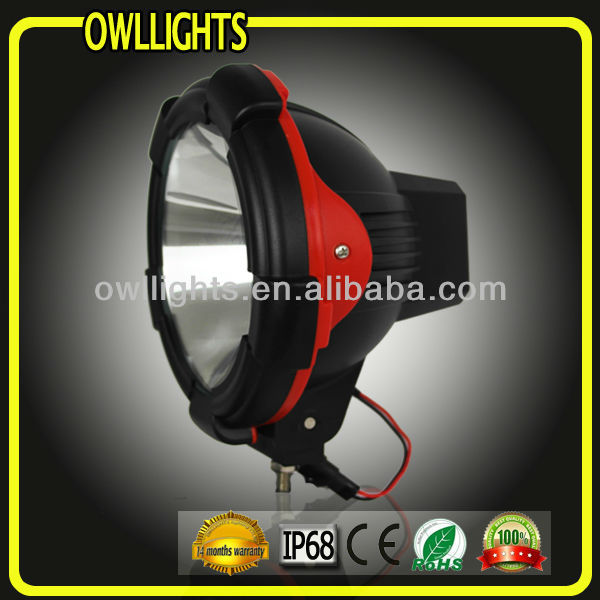 hottest color cover 9'' 75w hid off road driving light for 4x4 accessories , 9'' 75w hid spot lighting for truck 4WD