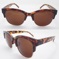 Promotional fashionable cheap sunglasses true color