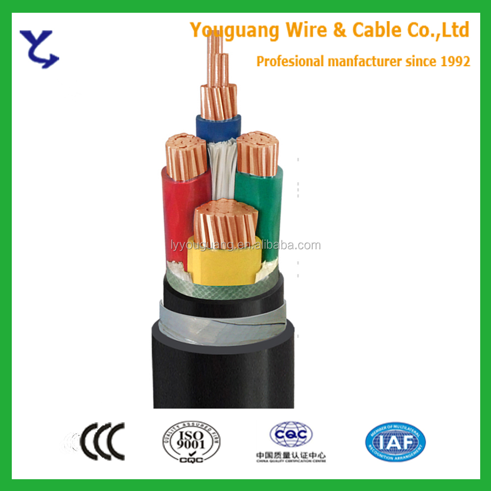 0.6/1KV Copper 4 Core 95mm 120mm 150mm 185mm 240mm 30mm XLPE Insulated Steel Tape Armoured PVC Sheathed Power Cable