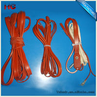 Flexible Silicone Heating Tapes Cords and Cable for Freeze Protection