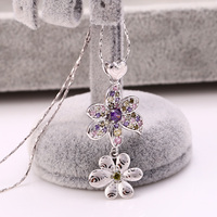 Wholesale custom Xuping Jewelry flower love necklace