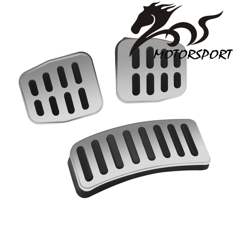 Manual car Stainless Car pedal Cover for POLO / New Lavida / New Bora/Skoda Fabia Accelerator Brake pedals Pads