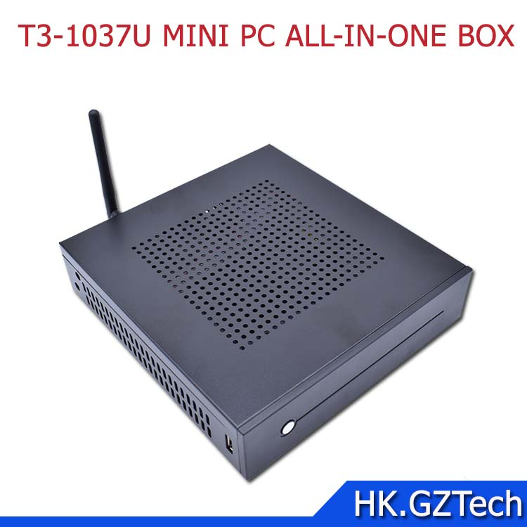 T3-1037 Intel Celeron 1037U J1900 J1800 I3 I5 MINI PC with 2G RAM ,32G SSD WIFI 12V DC