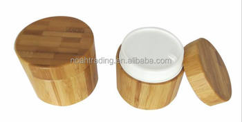 50g hot sale bamboo cosmetic container, bamboo cosmetic packaging, cream jar europe