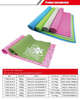 2015 hot sale , 173*61*0.6cm gym exercise pad, pilates cushion, body strench tool blanket PVC yoga mat