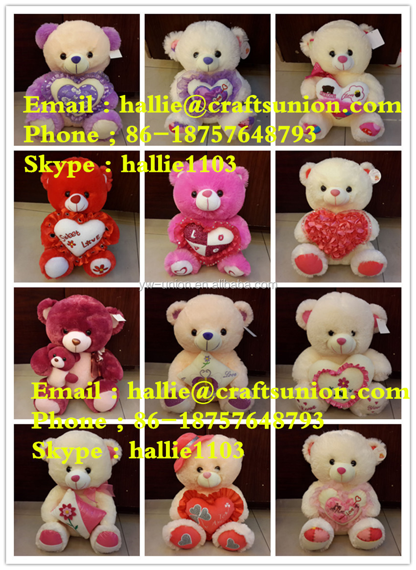 Different size chrismas teddy bear toy , 15 cm ,20 cm 25 cm toy gift for xmas day