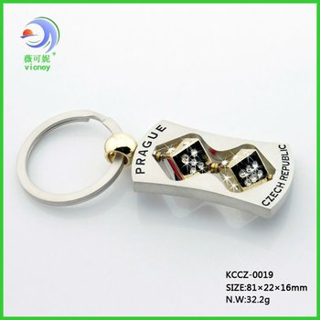 2014 lastest promotional metal key chain with diamond