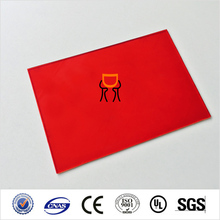 solid red lexan polycarbonate sheet/sound barrier solid polycarbonate/solar solid polycarbonate sheet