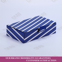custom cheap matte stripy corrugated shipping boxes