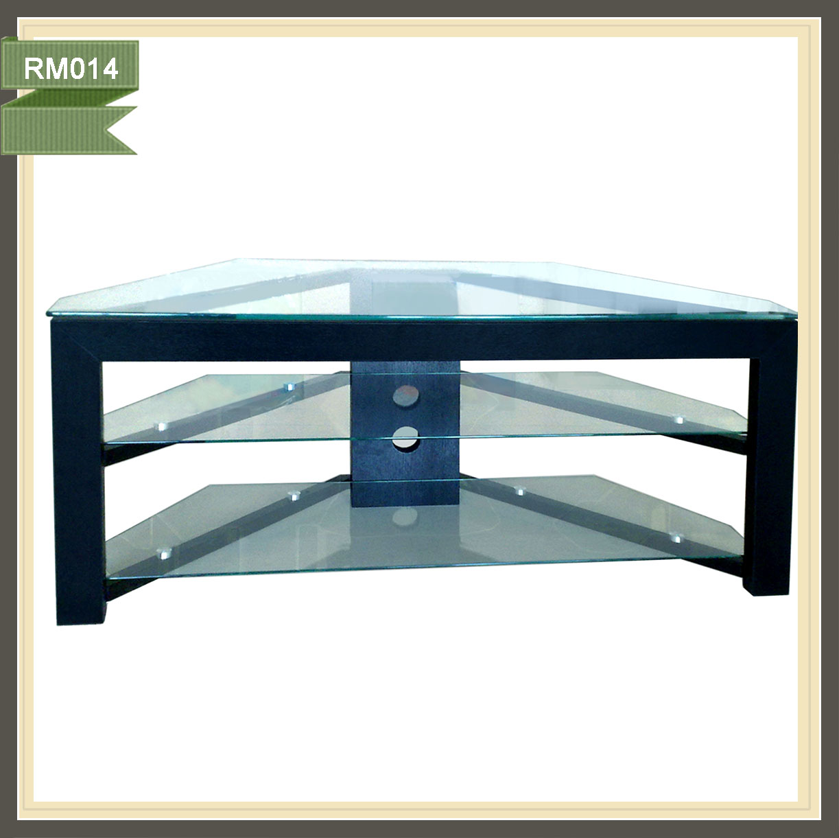 Special glass lcd tv stand design