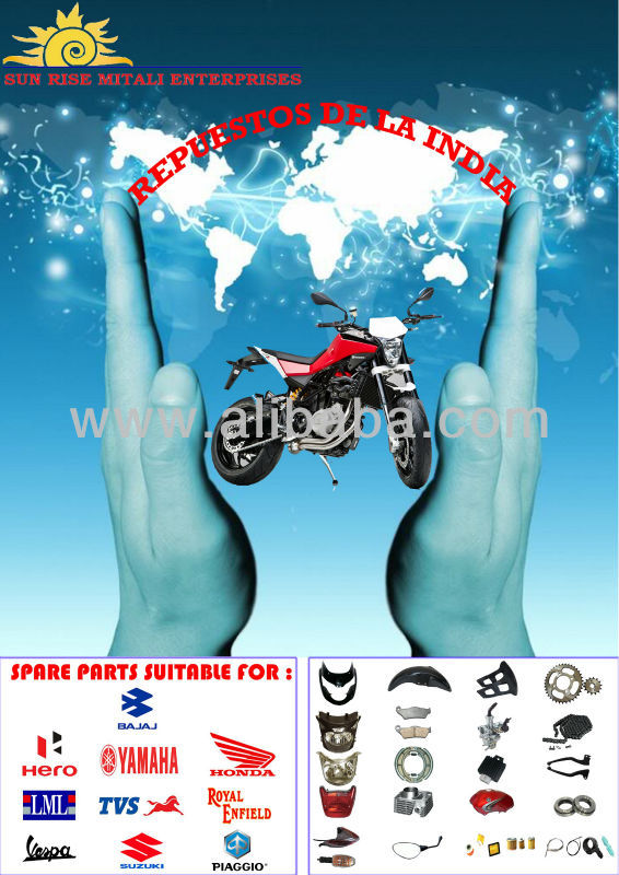 Spare Parts for Motorcycles, Scooter & Three wheeler