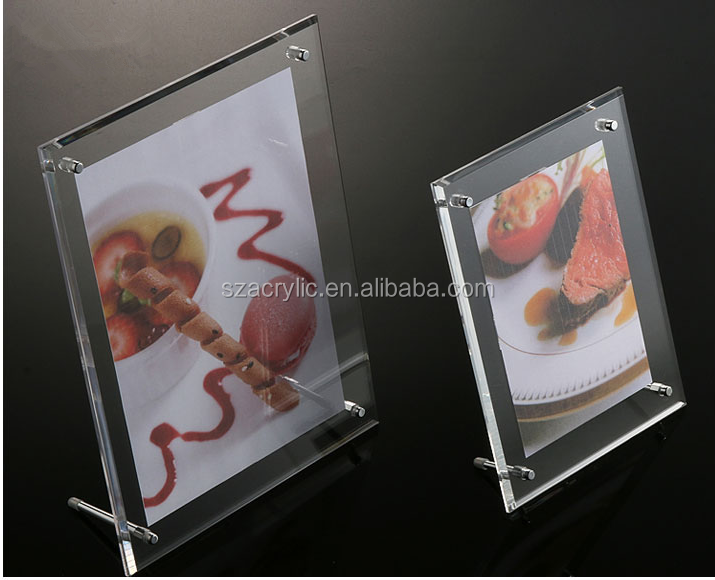 acrylic table card sign display holder