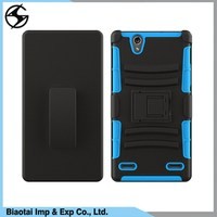 Wholesale Cell Phone Case Unbreakable Waterproof kickstand Super Combo Black Durable PC + TPU Funky Cell Phone Case for ZTE 936L