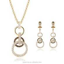 Maverick Wholesale Free Sample Circles Design Fashionable Jewelry Sets Necklace Earrings