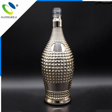 professional glass factory wholesale plating all color glass wine bottles