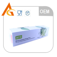 disposable material thick pe plastic wrap with slide cutter
