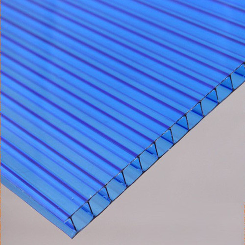 XINHAI Double layer/Twin wall polycarbonate/polycarbonato hollow red PC sheet
