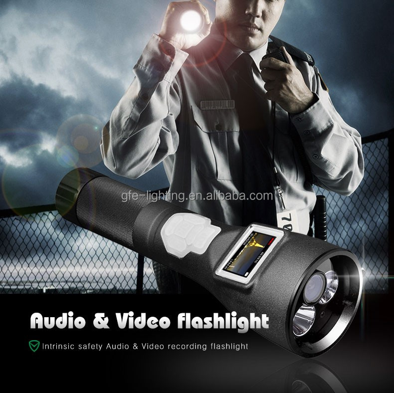 New Style Video and Audio Recording LED Flashlight with Digital Screen