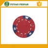 crowns and dices printed good quality indoor game chip clay poker chips