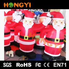 Custom processing inflatable santa claus cartoon christmas decoration supplies site layout props
