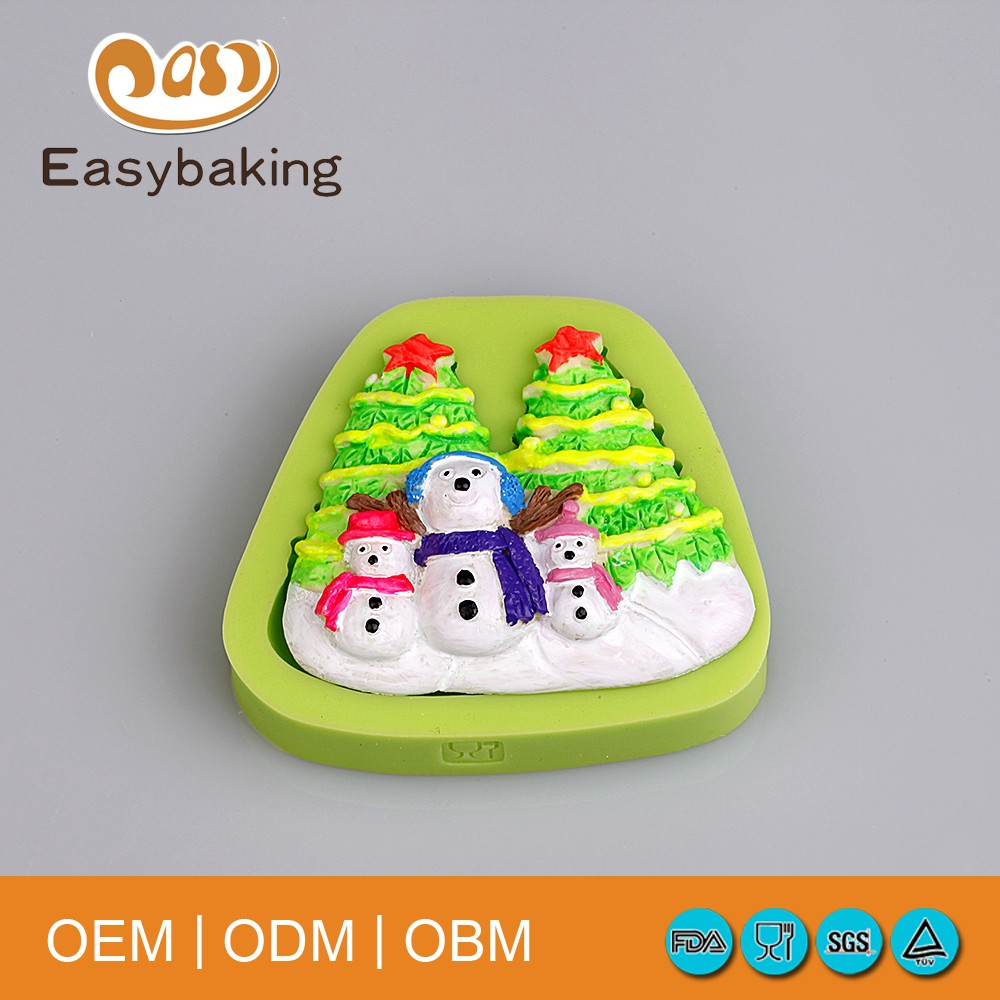 Christmas Silicone Snowman Cupcake Baking Molds