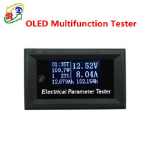 RD 33V10A 7in1 OLED Temperature Capacity Electricity Meter DC Volt meter White Digital Analog Voltmeter Multimeter