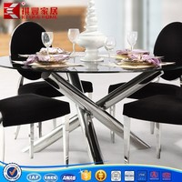 modern asia market metal frame2016 home furniture dining table